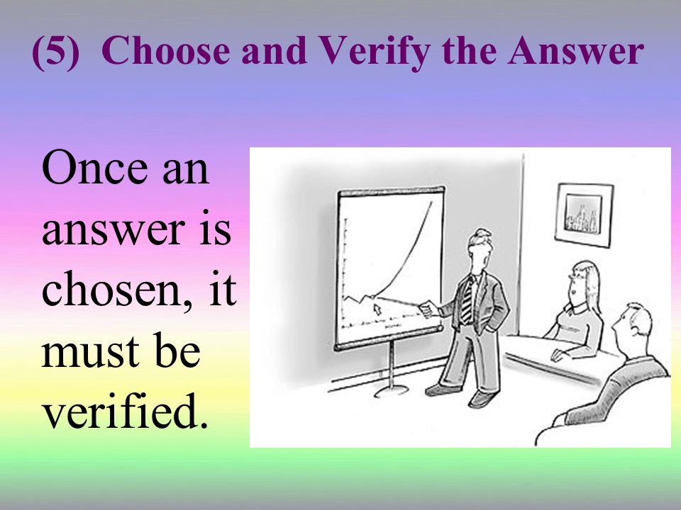 (5) Choose and Verify the Answer
