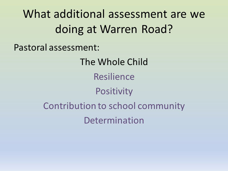 What additional assessment are we doing at Warren Road