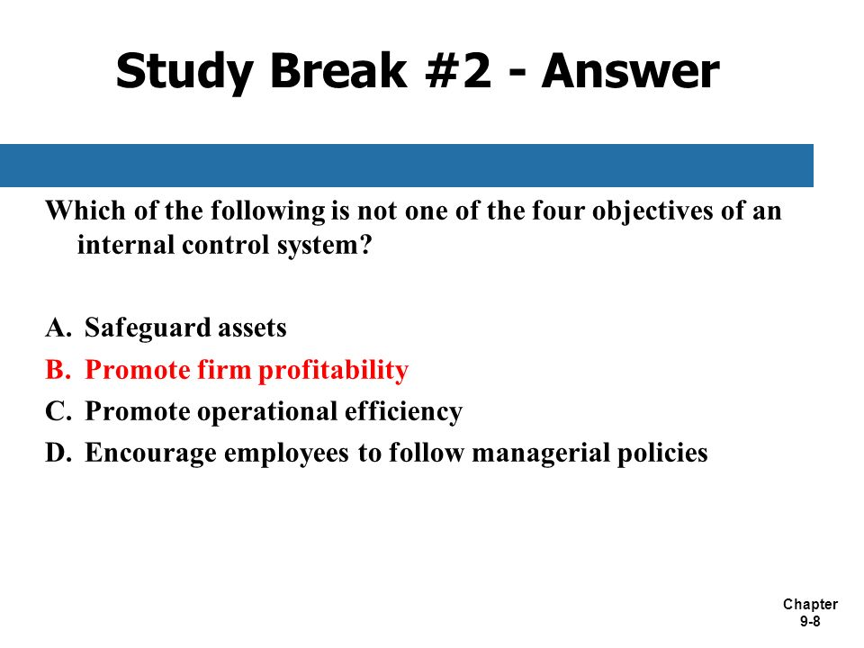 Chapter 9 Introduction To Internal Control Systems Ppt