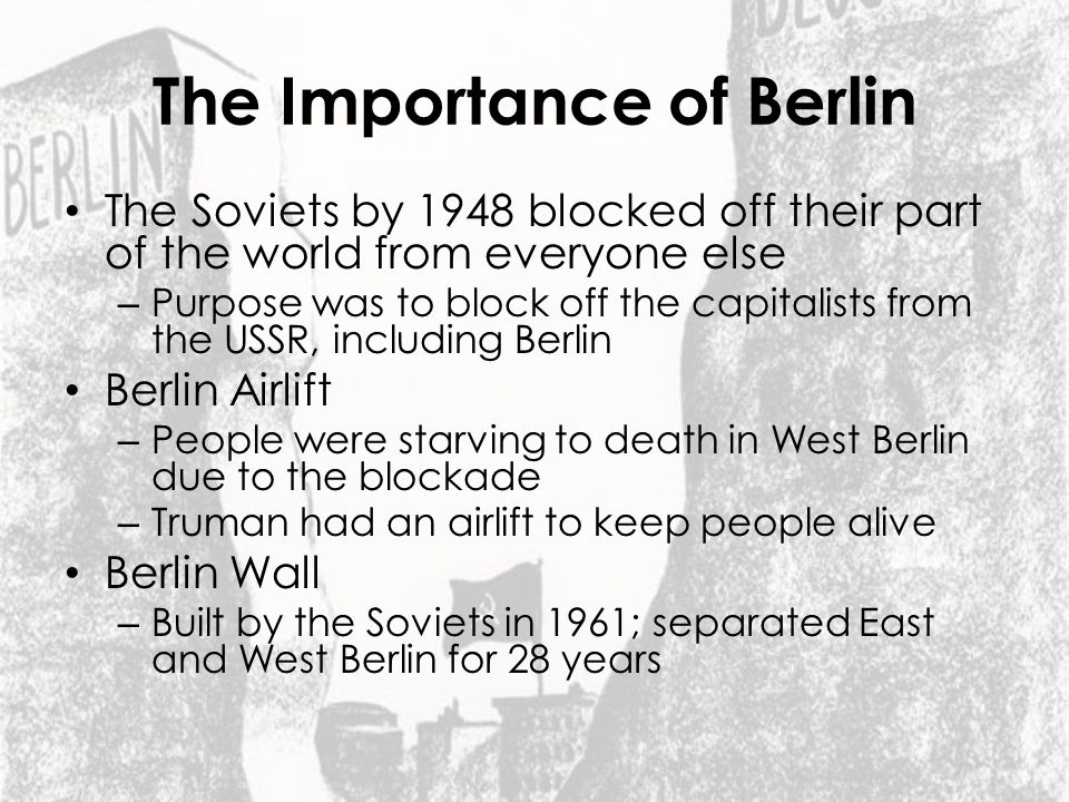 The Importance of Berlin