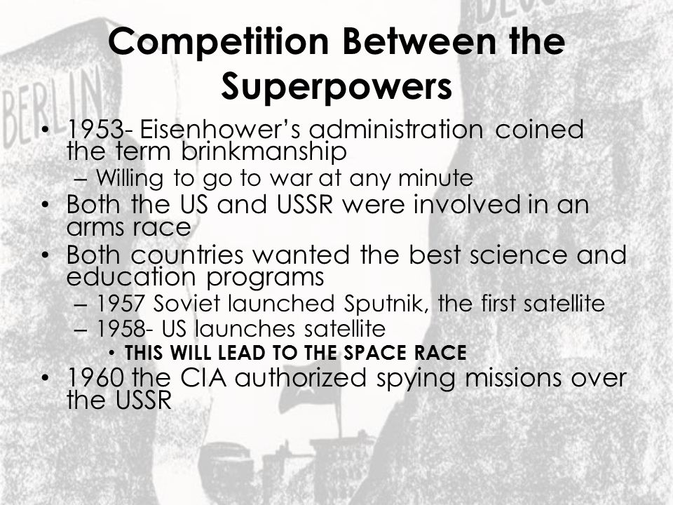 Competition Between the Superpowers
