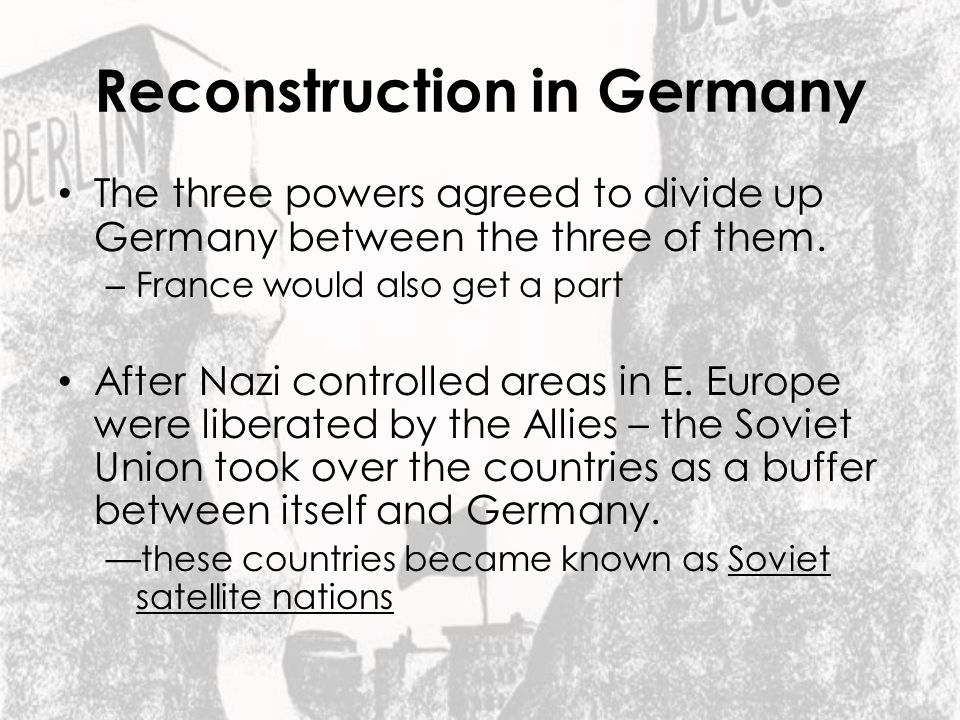 Reconstruction in Germany