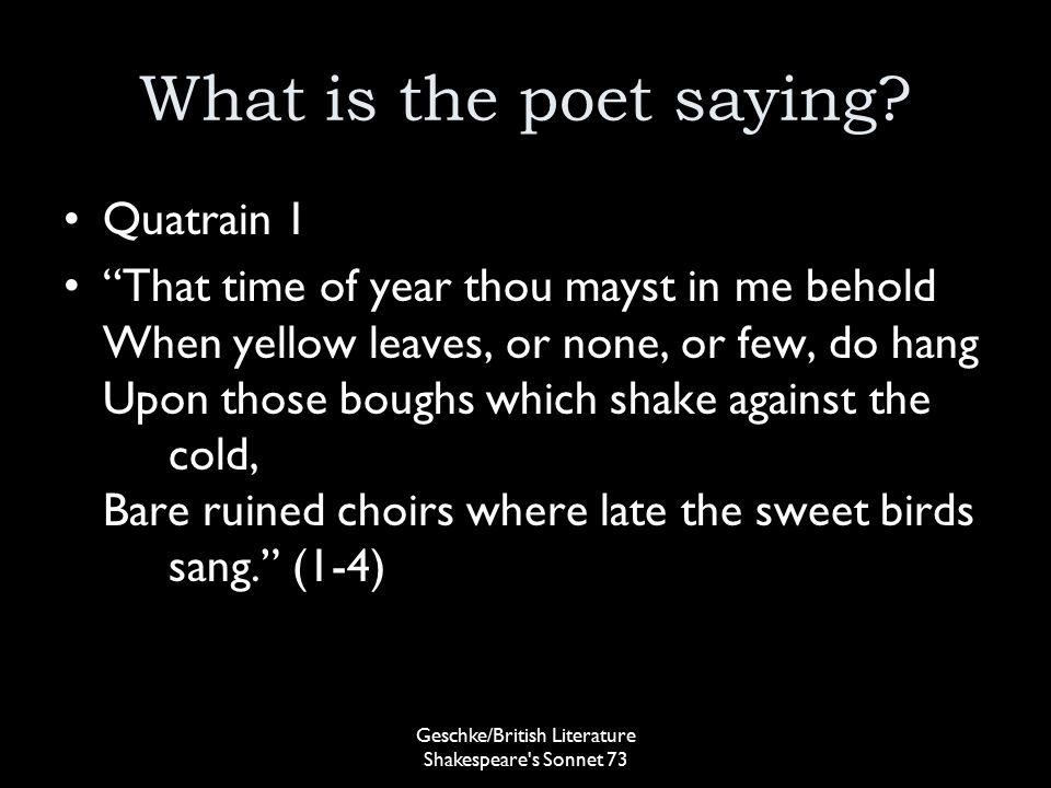 sonnet 73 meaning