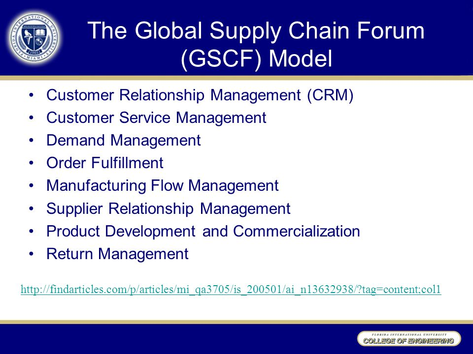global supply chain forum