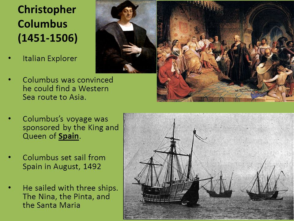 Image result for christopher columbus set sail in 1492