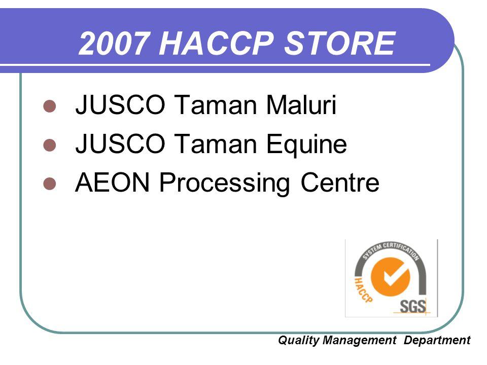 AEON CO  (M) BHD HACCP IMPLEMENTATION ( CCP TRAINING ) - ppt