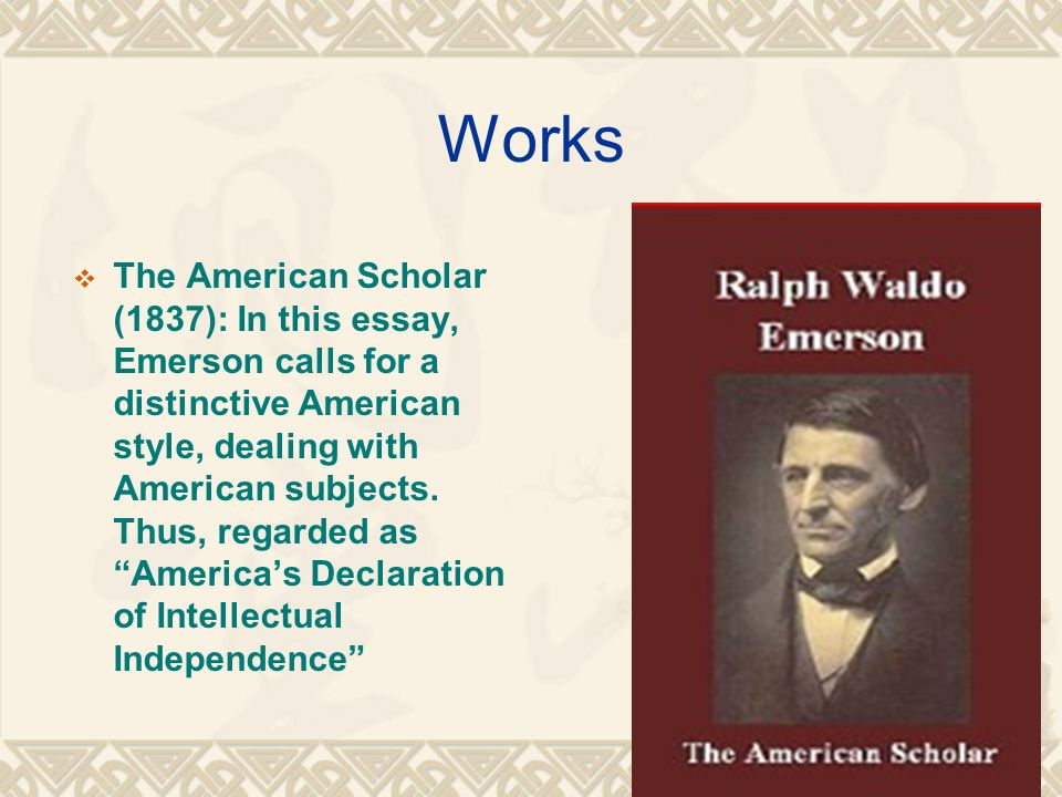 the american scholar emerson theme