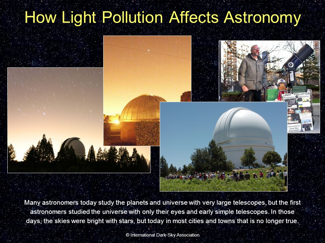 Light Pollution: A Journey Through the Solar System - ppt download