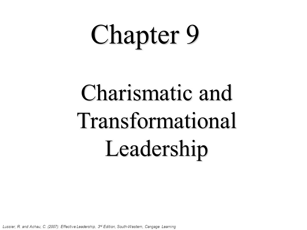 charismatic and transformational leadership - ppt download