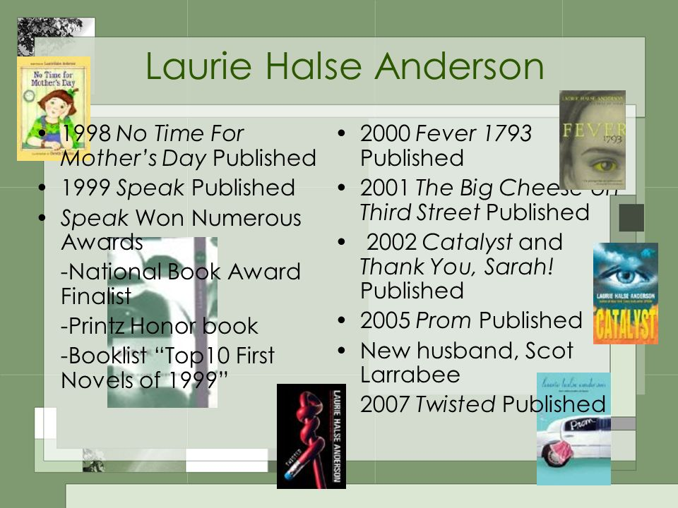 an analysis of hyperbole in speak by laurie halse anderson It looks like you've lost connection to our server please check your internet connection or reload this page.