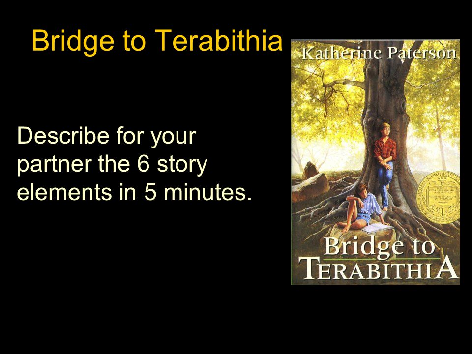 Story elements 6th grade comprehensive curriculum unit 2 ppt video 5 bridge to terabithia describe for your partner the 6 story elements in 5 minutes ccuart Images