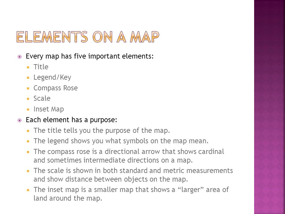 What is a Map?. - ppt download Key Elements Of Maps on evolution of maps, purpose of maps, philosophy of maps,