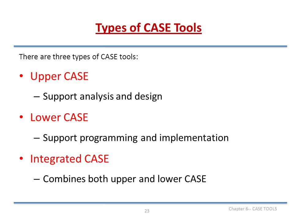 Chapter 6 Case Tools Software Engineering Chapter 6 Case Tools Ppt Video Online Download