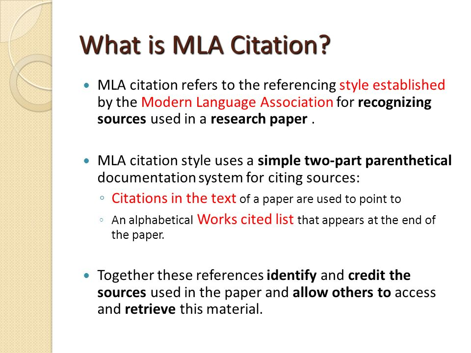 what is mla citation