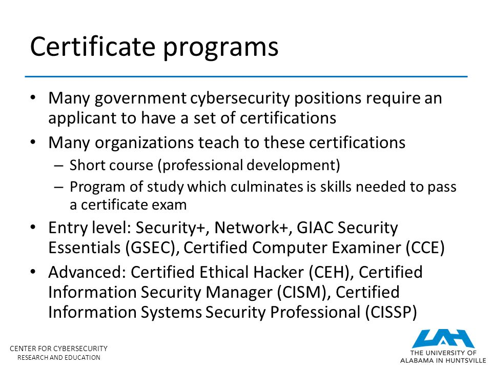 Center for Cybersecurity Research and Education (CCRE) - ppt download