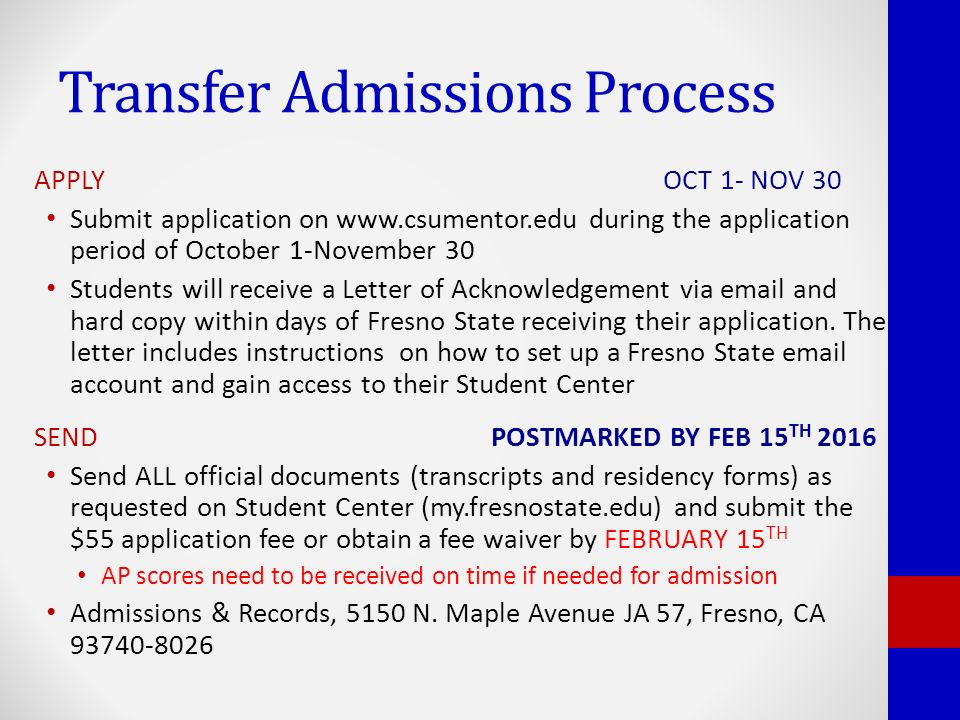 Fresno State Admissions >> Fall 2016 Admissions Updates Admissions Records Ppt Video