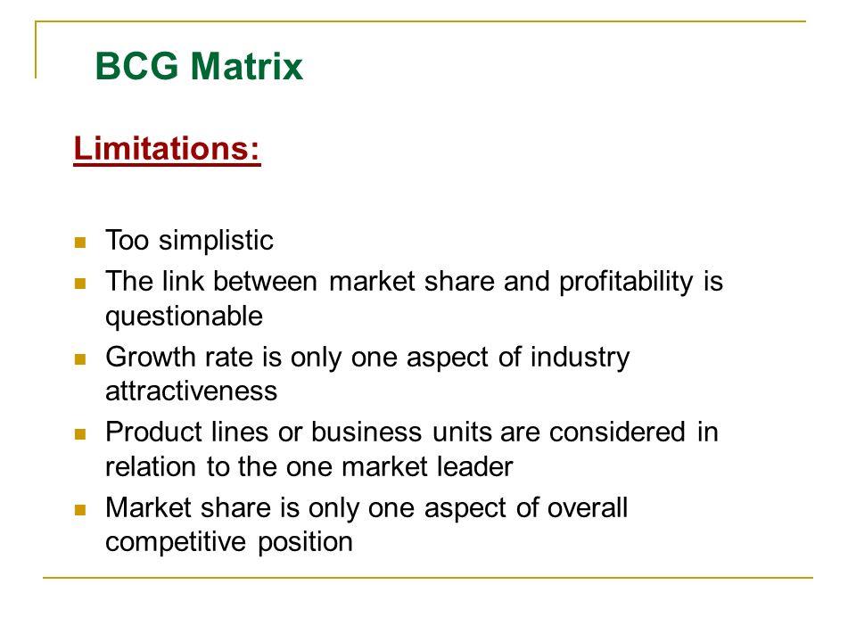 advantages of bcg matrix