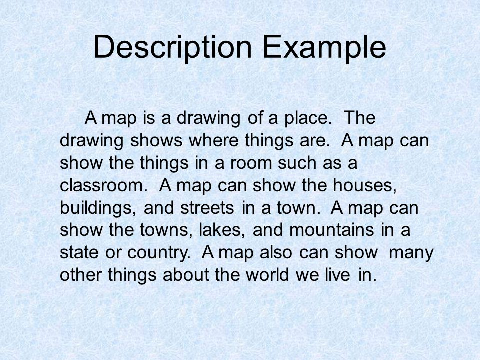 descriptive text example