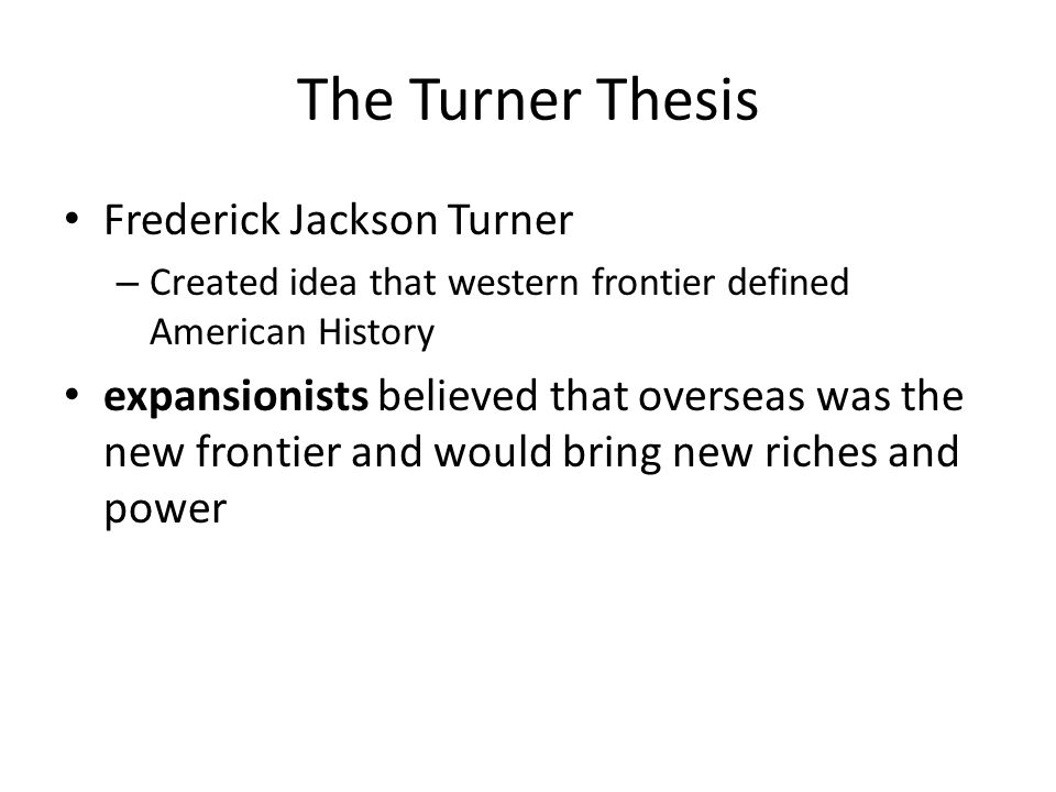 turner thesis definition
