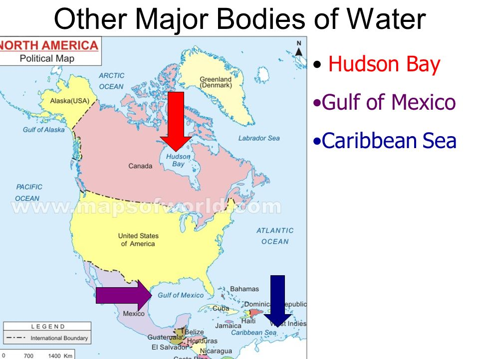 Water Bodies Map Of Canada.North America Physical Geography Ppt Video Online Download
