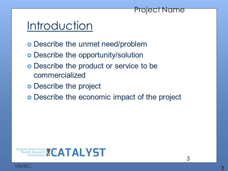 project name project proposal presentation to the virginia