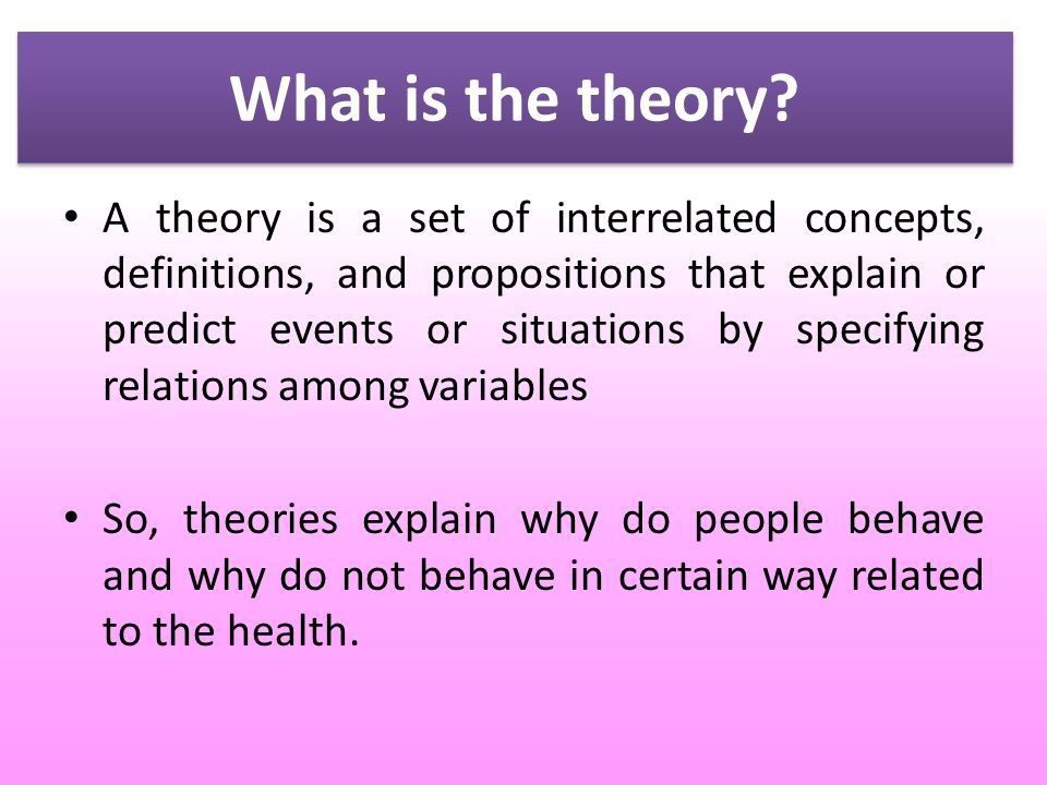 What Is The Theory