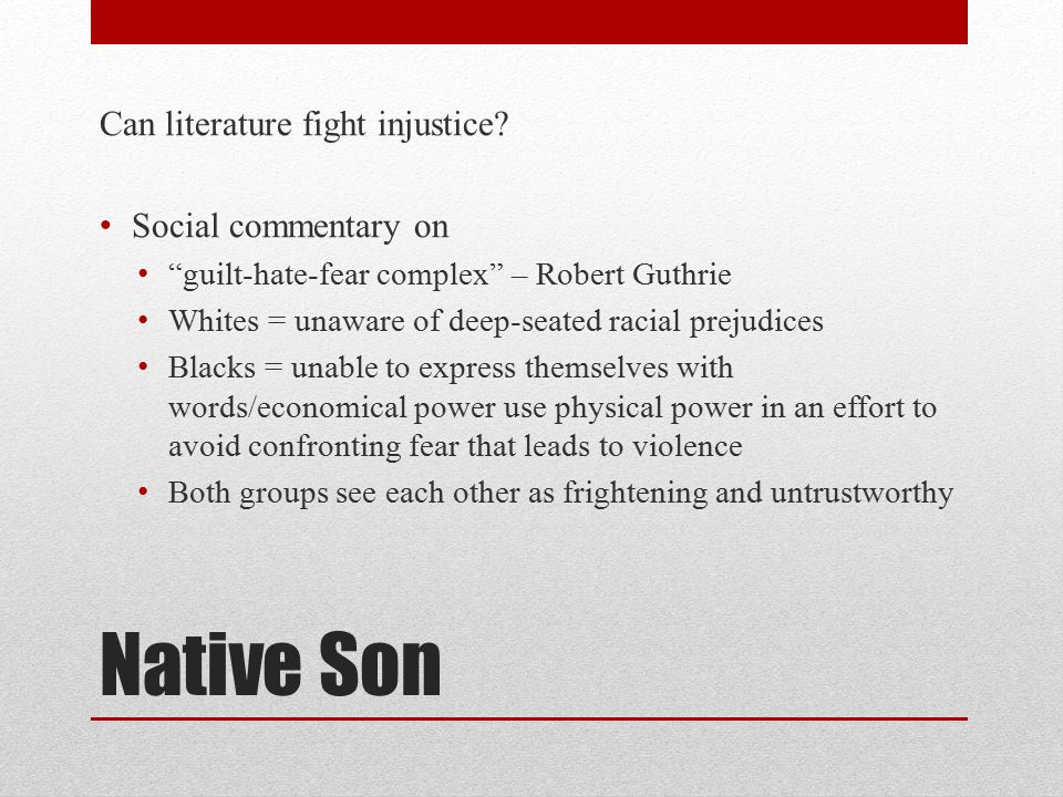 violence in native son