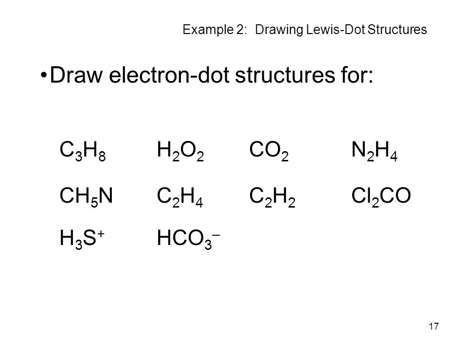example 2: drawing lewis-dot structures