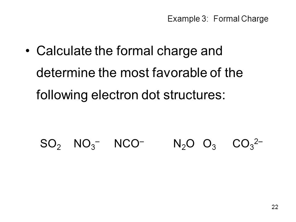 Example 3: Formal Charge