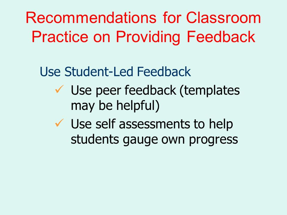 SETTING OBJECTIVES & PROVIDING FEEDBACK - ppt download
