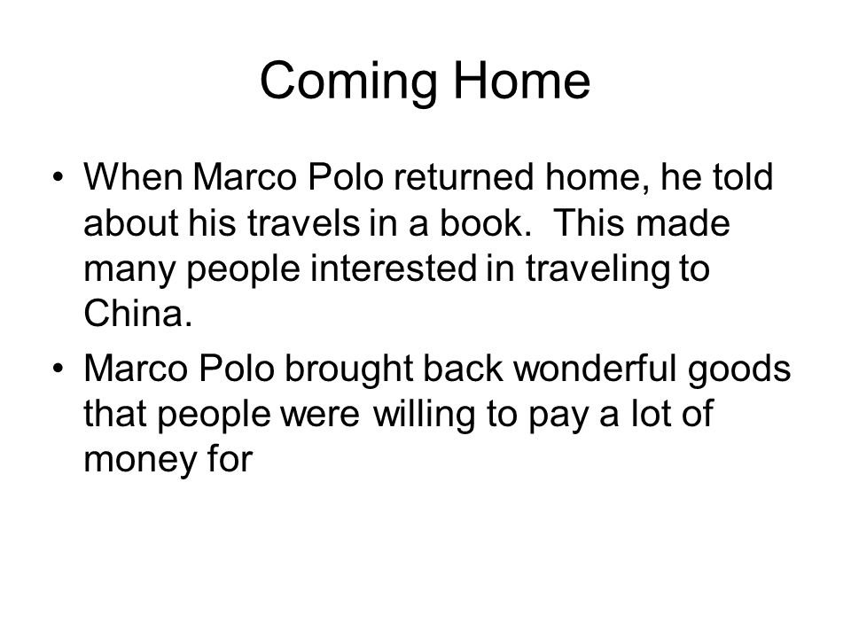 Marco Polo. - ppt video online download