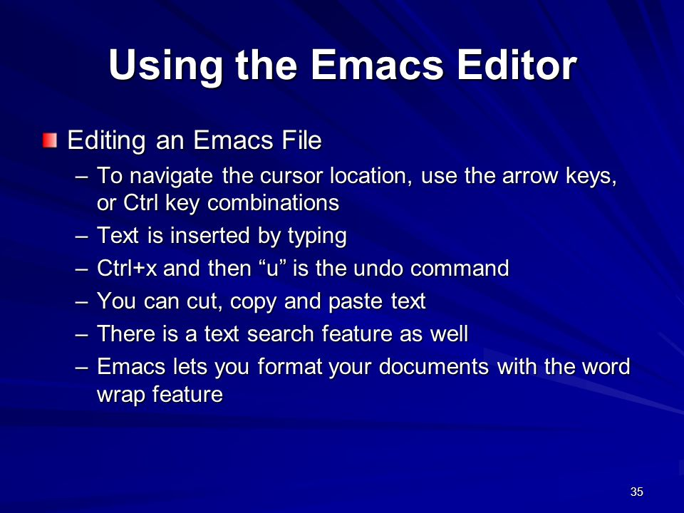 Chapter Three The UNIX Editors  - ppt download