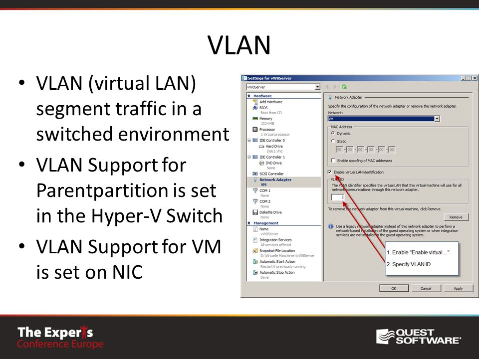 VLAN VLAN (virtual LAN) segment traffic in a switched environment