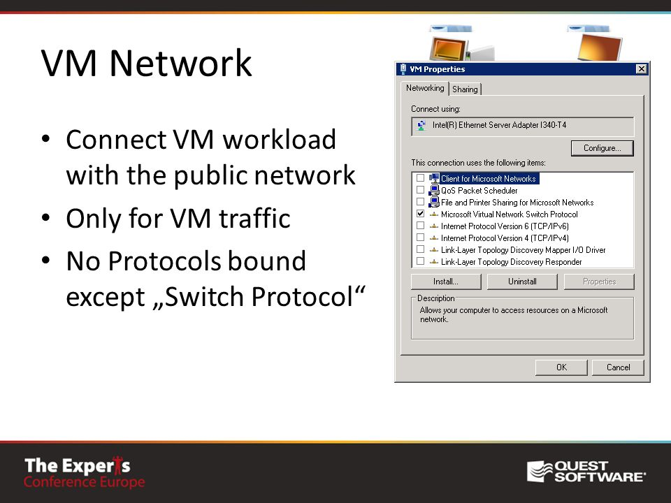 VM Network Connect VM workload with the public network