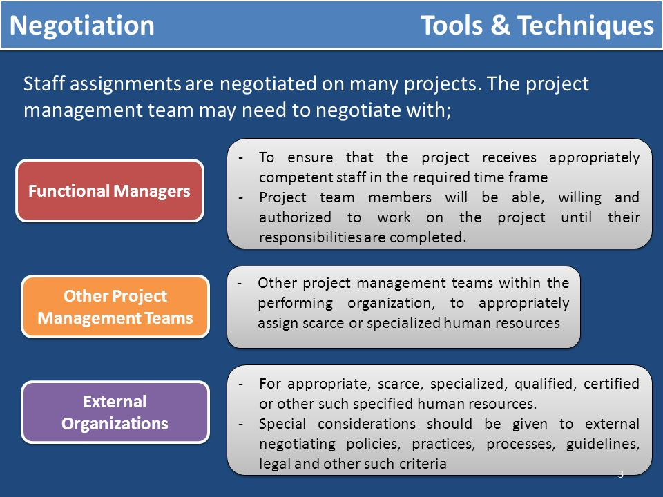 negotiation in project management pdf