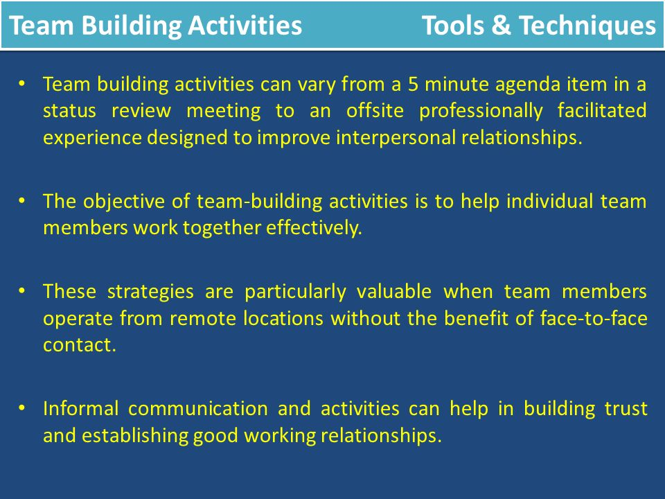 Acquire Project Team Tools Techniques Ppt Video Online Download