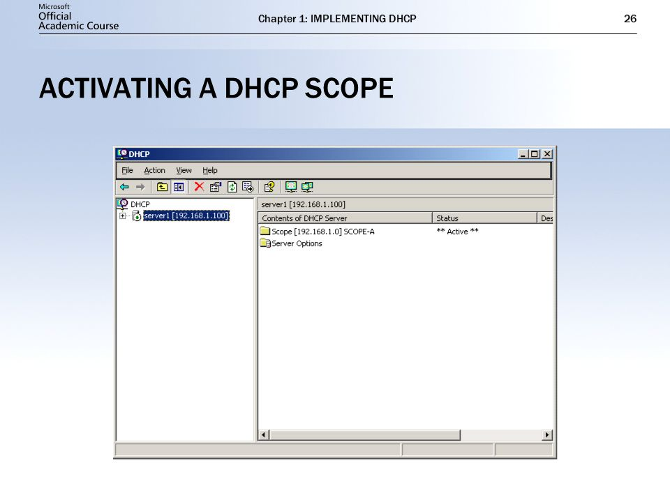 IMPLEMENTING DHCP Chapter 1 - ppt download