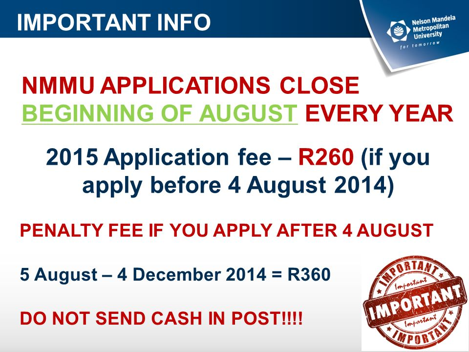 HOW DO I APPLY TO NMMU Ppt Video Online Download