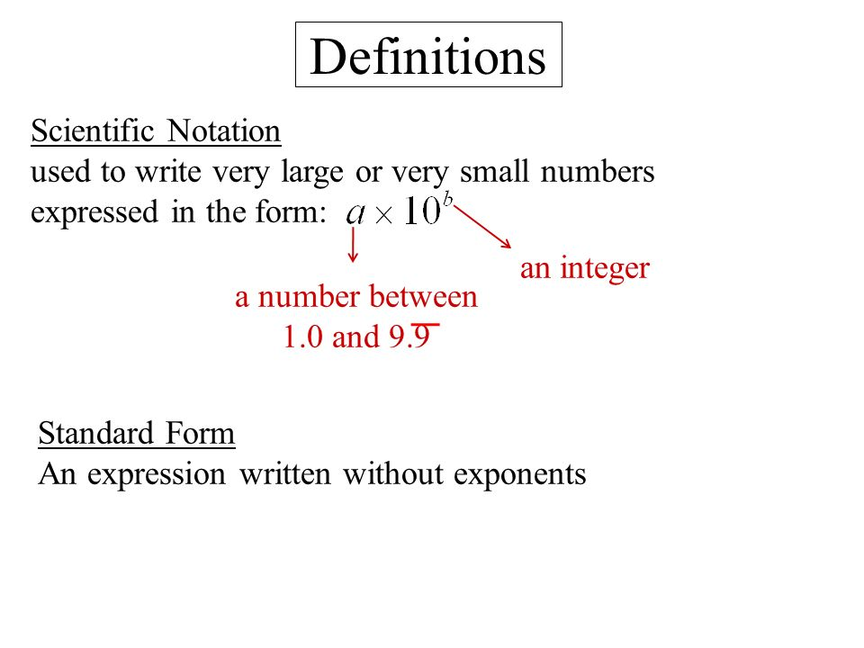 Ch 8 Exponents E Scientific Notation Ppt Video Online Download