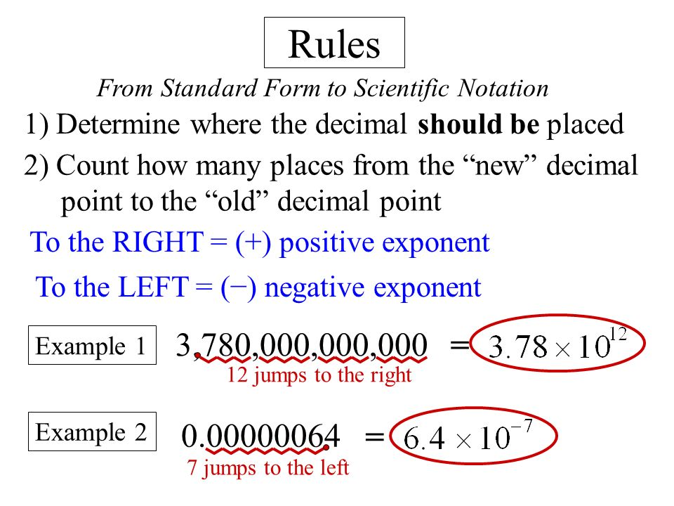standard form negative exponents  Ch 9: Exponents E) Scientific Notation - ppt video online ...