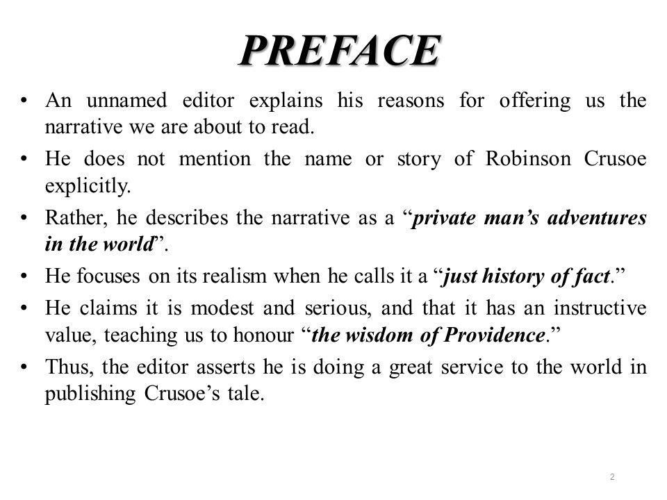 robinson crusoe preface