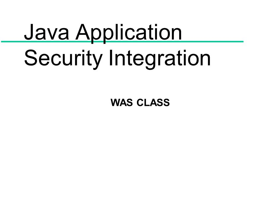 Java Application Security Integration