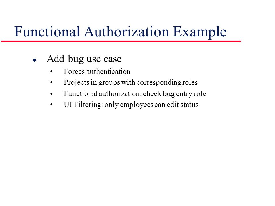 Functional Authorization Example
