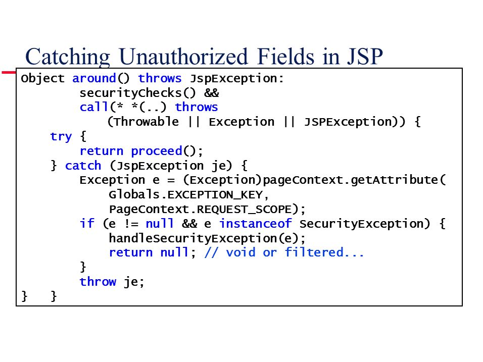Catching Unauthorized Fields in JSP