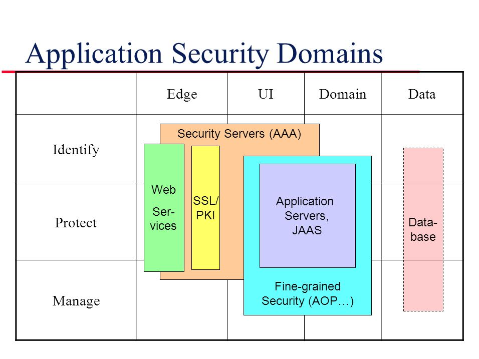Application Security Domains