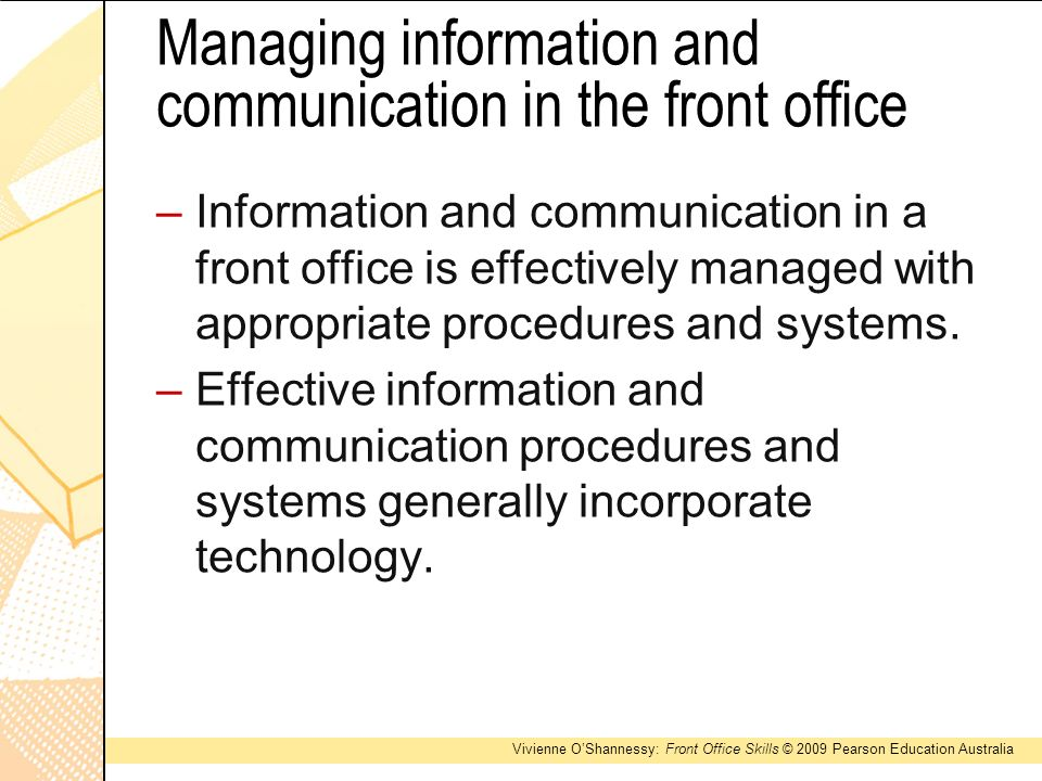 Introduction to front office - ppt video online download