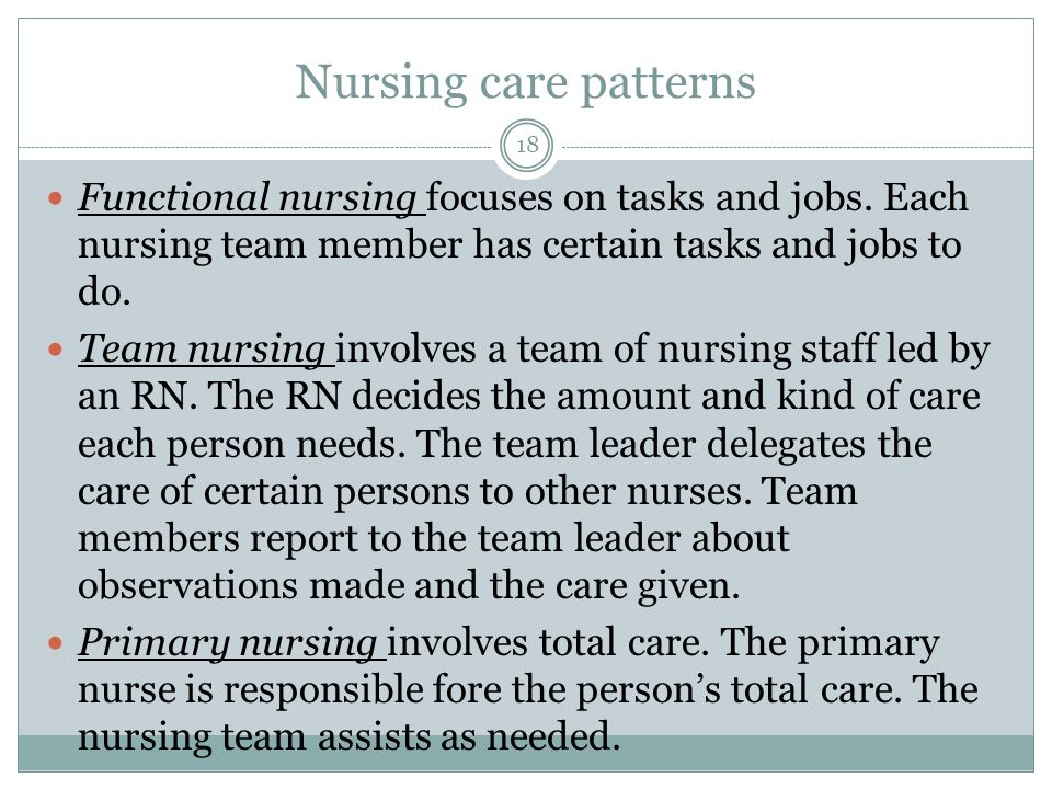 what is functional nursing