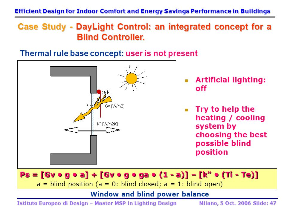 Window and blind power balance