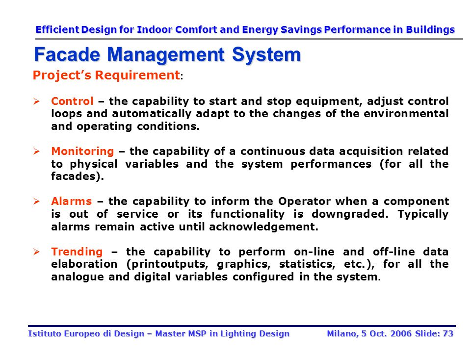 Facade Management System