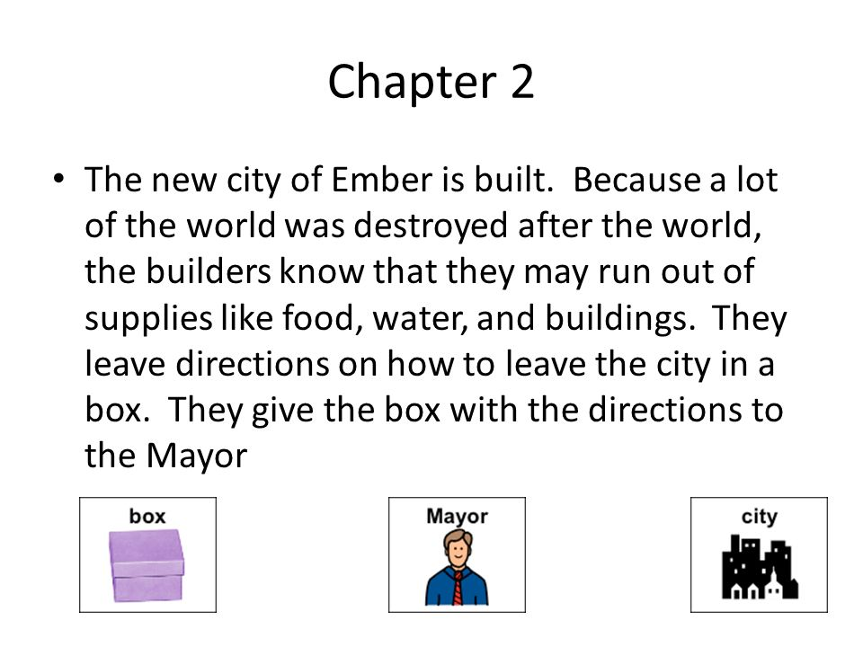 City of ember by jeanne duprau ppt video online download 3 chapter ccuart Images